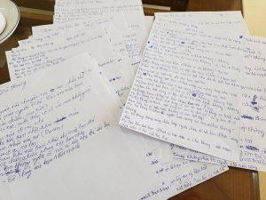 Phiếu điều tra học sinh lớp 6.2 sau khi xảy ra vụ việc cô Thủy phạt học sinh 231 cái tát.