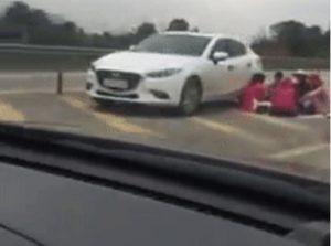 Thêm trường hợp gia đình 'mở tiệc' trên cao tốc