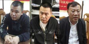 Ba đối tượng Trung Quốc tại cơ quan điều tra