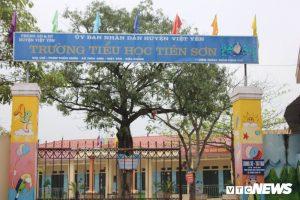 Trường Tiểu học Tiên Sơn nơi xảy ra vụ việc.