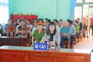 Bị cáo Huỳnh Thục Vy tại phiên tòa