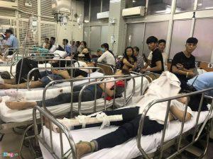 Các nạn nhân cấp cứu tại Bệnh viện Chợ Rẫy TP.HCM