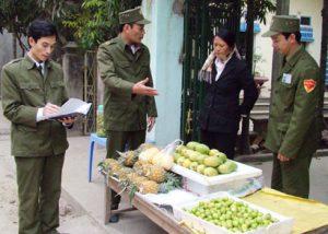 Xử phạt hành chính buôn bán hoa quả trái phép